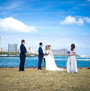 Hawaii Beach Weddings at Magic Island