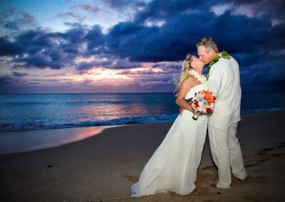 Hawaii wedding bride and groom