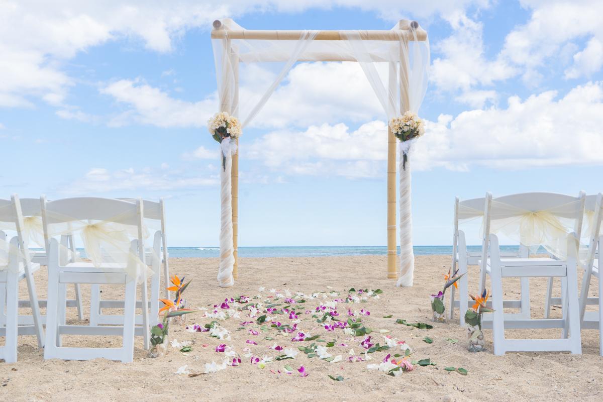 Waialae Beach Wedding Hawaii Locations